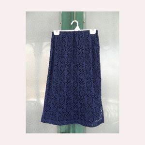 Layered Lace Slim Skirt NWT